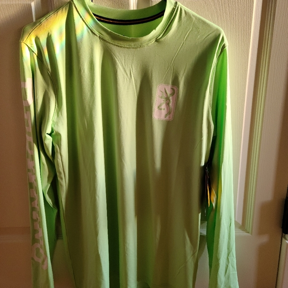NWT! Browning Neon Mint Long Sleeve T-Shirt, Small